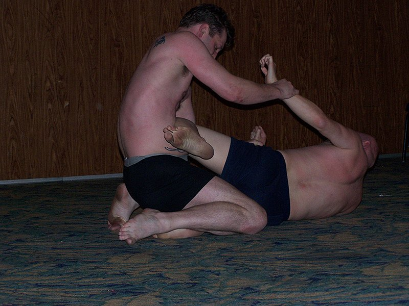 Ban and Valorian wrestling